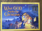 What God wants for Christmas Interactive Nativity Set and Book for Kids by Amy B