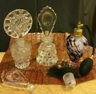 RARE VINTAGE pressed Blown Glass Scent Bottle collection PERFUME BOTTLE