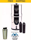 Imperial Berkey Water Filter Purify w 2 Black Filters and Stainless Steel Shaker
