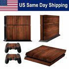 Wooden Skin Decal Sticker for PS4 Sony Palystation 4 Console & 2 Controllers