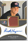 2009 Upper Deck USA-RH Rick Hague Autograph Game Used *Patch* 12 25