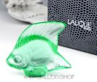 Lalique Crystal FIGURINE PAPERWEIGHT MINT GREEN POISSON FISH Mint Box