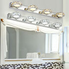 Modern Bathroom LED Crystal Mirror Front Make up Wall Light Toilet Vanity Lamp