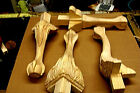 Lot 4 HardWood  Ball and Claw Furniture Feet/Foot Legs ~unfinished