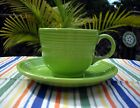 Fiesta RETIRED CHARTREUSE TEA CUP + SAUCER ~