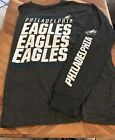 Philadelphia Eagles Gray Adult Long Sleeve Majestic T Shirt XXL 2XL