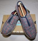 TOMS WOVEN PLAID PALMERA SLIP ON SNEAKER US7 UK5 EU 375