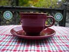 Fiesta RETIRED CINNABAR TEA CUP + SAUCER ~