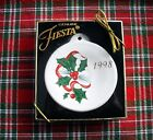 Fiesta Holly 1998 Christmas Holiday Ornament w/box ~