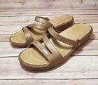 Crocs Patricia Mickey Mouse Disney Sandals Brown Gold Womens Sz W9 Rare