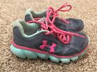 UNDER ARMOUR Girls running Shoes Size 12 Athletic EUC pink grey mint green