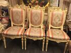 Antique Italian Furniture Handpainted artistRossi Table 6 Chairs French Province