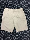 NIKE GOLF Shorts Mens Size 34 Beige Pleated Casual Relaxed Athletic Sport F1