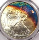 2000 Toned American Silver Eagle Dollar 1 ASE PCGS MS68 Rainbow Toning Coin