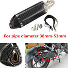 Motorcycle Carbon Fiber 38 51mm Exhaust Muffler Pipe W Removable DB Killer