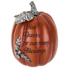 Give Thanks For Our Many Blessings decorative Pumpkin