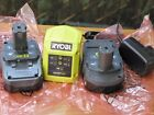 NEW Ryobi ONE+ I8v Charger BCL14183H and 2 x 18v 1.3ah li-ion batteries