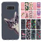 For Samsung Galaxy Phone Note 8 S8+ Shockproof Clear Cute Rubber Soft Case Cover