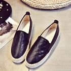Loafer espadrilles women plaid design fisherman shoes creepers casual slip on