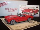 Danbury Mint 1962 Chevy Corvette 124 Diecast Car Roman Red Box Title Hard Top