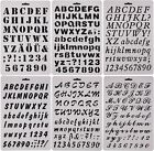SOOKOO 6 PCS Drawing Painting Stencils Scale Template sets Alphabet Letter Dr