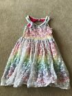 The Childrens Place Girls Rainbow Sleeveless Dress Lace Overlay Size 7 8