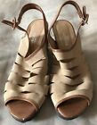 Audley London Suade Sandlas Taupe Size Eur 38 Size 75 Made In Spain