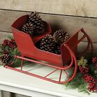 Big Christmas Red Metal SLED Sleigh*Primitive/French Country/Farmhouse Decor*New
