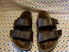 Used Birkenstock Sandals Brown Minor wear Good Condition Womens 39 Wide Width