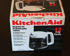 Genuine KitchenAid Replacement Glass White 12-Cup Carafe NEW IN BOX KCM12CWH