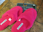 Laura Ashley Pink soft fleece Thong Spa slippers Orig 18 Small 5 6 New w tags