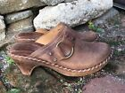 FRYE Charlotte Size 9 Clogs Distressed Brown Leather Shoes