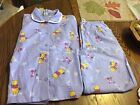 Disney Womens Winnie The Pooh  Piglet Flannel Christmas Holiday Pajama Large