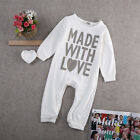 Infant Kid Baby Boy Girl Long Clothes Romper Bodysuit Jumpsuit One pieces Outfit