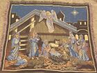 Christmas Nativity w Magi Angel Animals Tapestry Afghan Throw By Goodwin Weavers