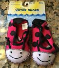 NEW Rising Star Water Shoes 12 18 months UV40+ Ladybug Infant Baby Toddler