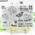 Happy Birthday Transparent Clear Silicone Stamp Seal for DIY scrapbookin