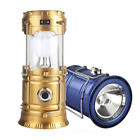 Solar Power Collapsible Camping Light Flashligh 6LEDs LED Rechargeable Hand Lamp