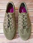 Womens Keds Khaki Green Sued Slip On Sneakers Loafers Athletic Trail Shoes Sz 8