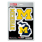 Michigan Wolverines Die Cut Decal Stickers 3 Pack FAST USA SHIPPER