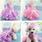Luxury Pet Dog Rose Dress Clothes Puppy Cat Skirt Teddy Chihuahua Coat Apparel