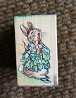 Beatrix Potter All night Media Rubber Stamp Peter Eating Radishes 903D