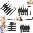 Flute Countersink And Screw Set Pilot Drill Screw Sink Bits Counter Sink 5pc