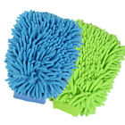 BlueGreen Car Wash Washing Microfiber Chenille mitt Cleaning Glove US Seller