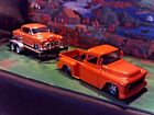 124 Scale Diecast3 pcSet Orange1955 Chevy pickup1953 Bel Air