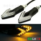 2x Motorcycle 8mm Bolt Hole LED Turn Signal Lamp Fairing For Suzuki Honda Black