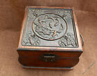 Chinese Huanghuali Wood Handmade Lotus leaf Fish Boxes Box Jewelry Box Cabinet i