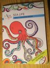 Adult Coloring Book Sea Life Easy Tear Pages
