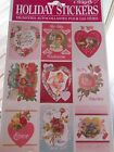 Vtg Style Victorian VALENTINES DAY STICKERS Hearts Love Flower Made in The Usa