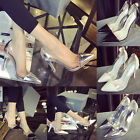 Womens Fashion Clear Pointed Stiletto Ladies Pumps Party Shoes High Heel Sandals